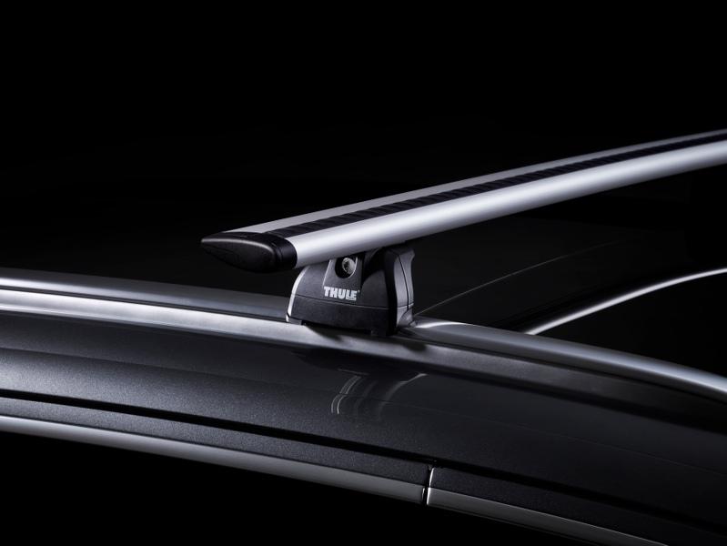 Fixation barres de toit sur barres longitudinales intégrées