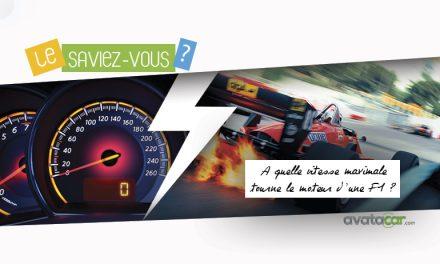 À quelle vitesse maximale tourne le moteur d'une Formule 1 ?