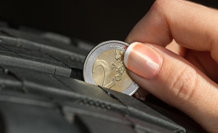 Contrôle usure des pneus