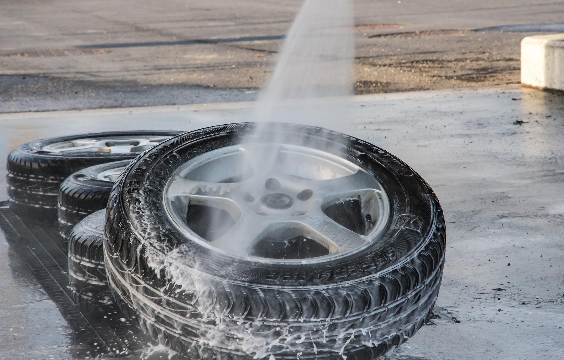 Nettoyage pneus