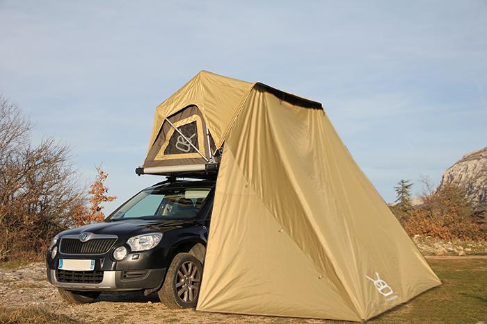 Tente de toit BEX avec canopy