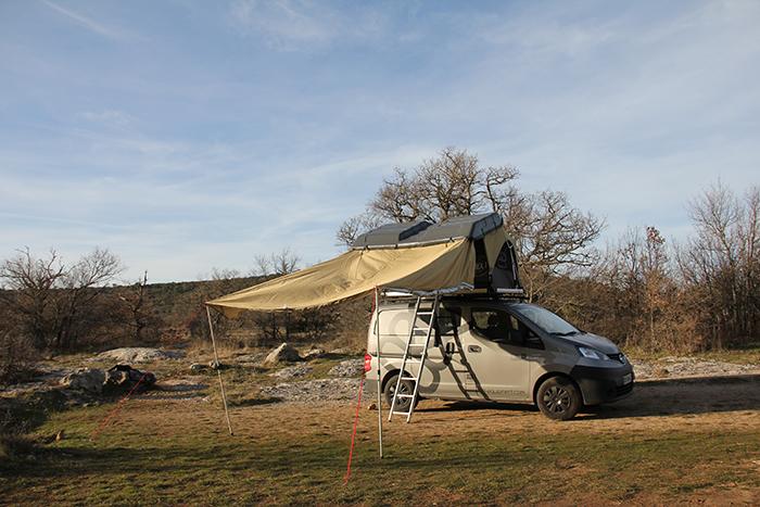 Tente de toit EBEX avec canopy
