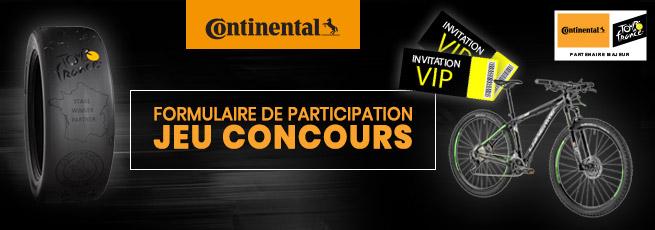 Formulaire De Participation Au Jeu Concours Continental Blog Avatacar