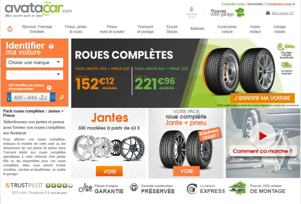 homepage roues complètes